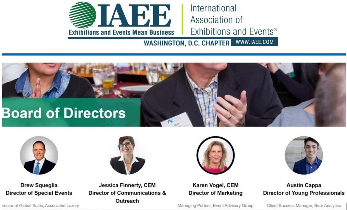 Karen Vogel, EAG's Managing Partner, elected to the 2021 IAEE DC Chapter Board of Directors